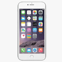 obj apple iphone 6 silver