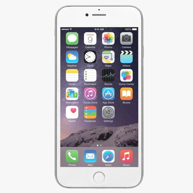 3d model apple iphone 6 gold