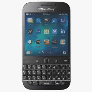 blackberry classic non camera 3d c4d