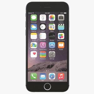 apple iphone 6s space 3d model