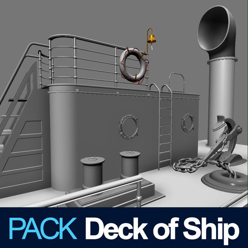deck ship 3d max