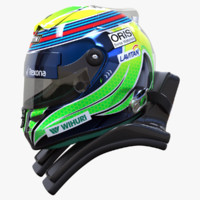 racing helmet felipe massa 3d 3ds