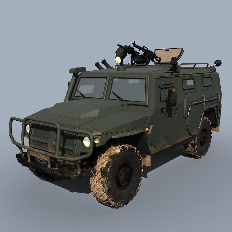 3d vpk-233115 tigr-m spn tigr model
