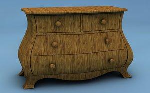 chest drawers 3d c4d