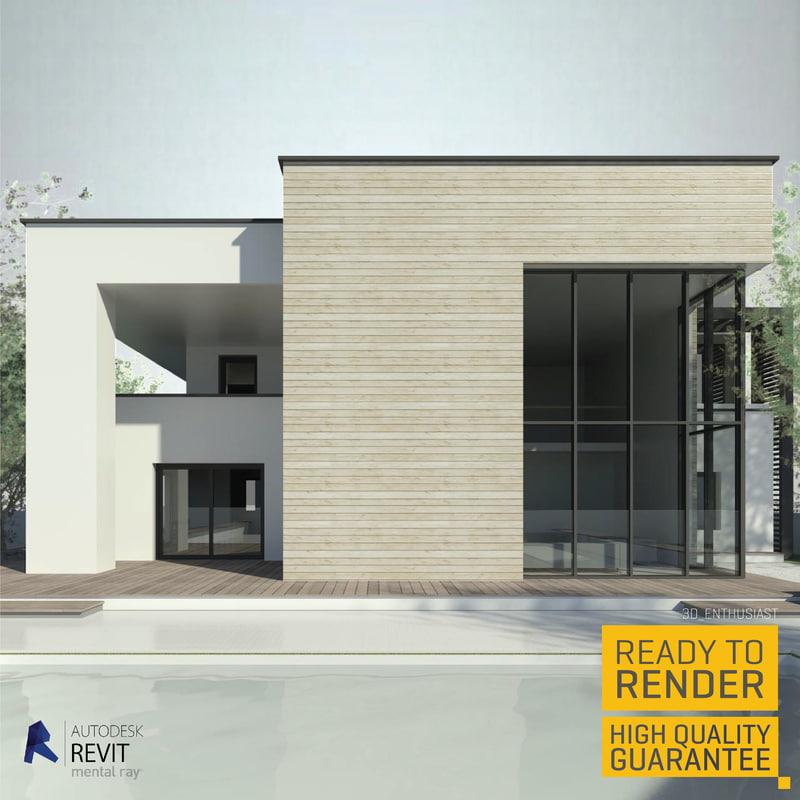 modern house 3d fbx