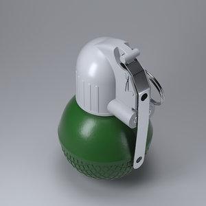 3d model of rgo grenade