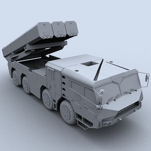 3d model dongfeng -10a df10a cruise missile