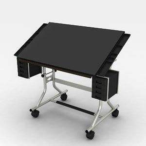 drafting table modern 3d max