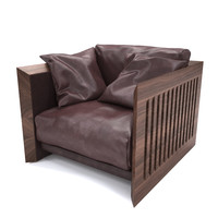 3d soft wood armchair riva