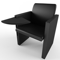 mobile chair table 3d model