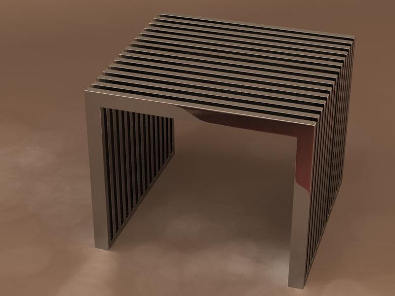3d model steel table eichholtz