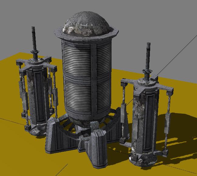 industrial elements energy 3d model
