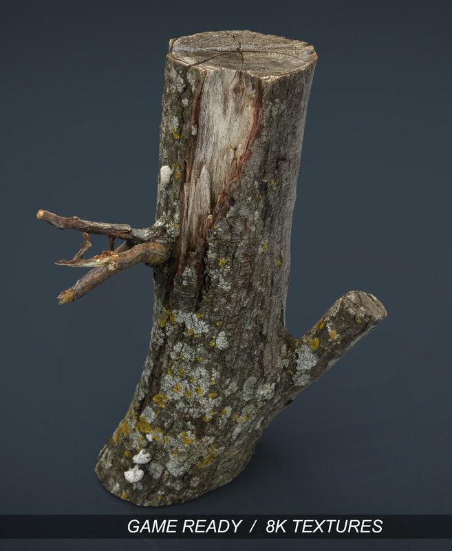 x realistic wood log