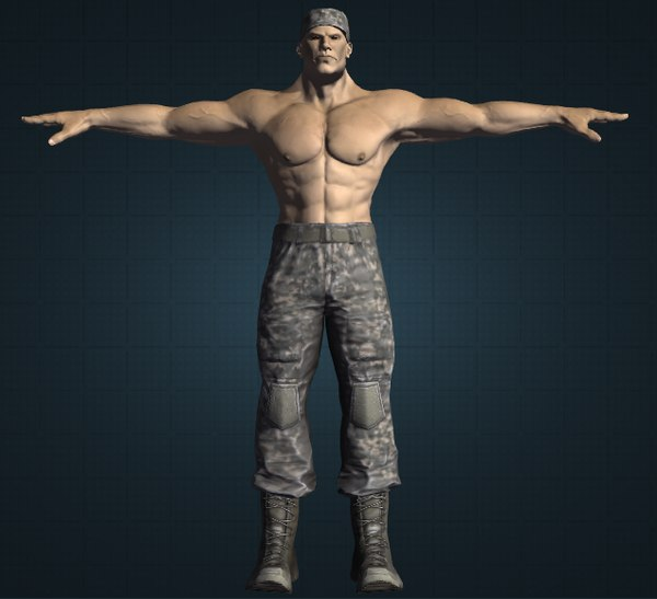 male mutant soldier obj