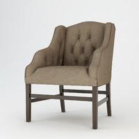 eichholtz armchair columbus 3d max
