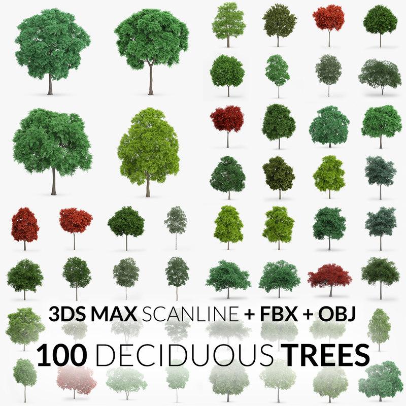 100 trees - scanline obj