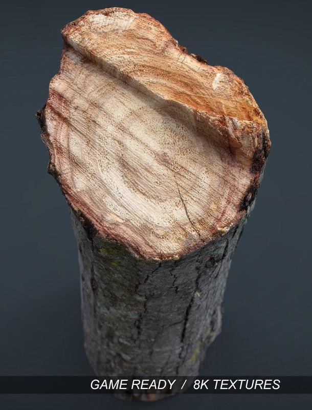 realistic wood log x
