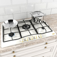 cooktop pans 3d model