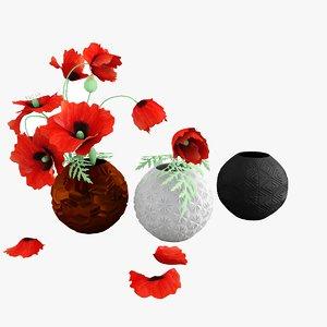max poppies vases