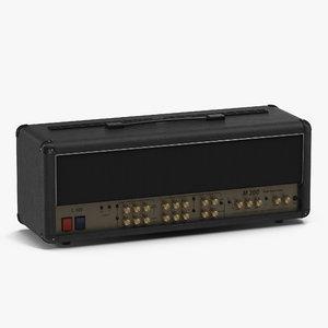 3d model guitar amplifier head generic