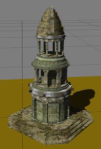fbx tower ancient fantasy