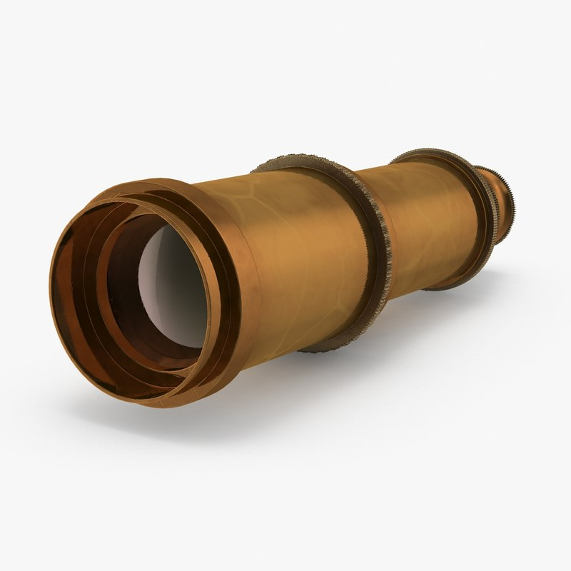retracted spyglass 3d model