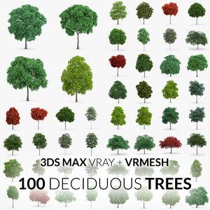 max 100 trees - v-ray