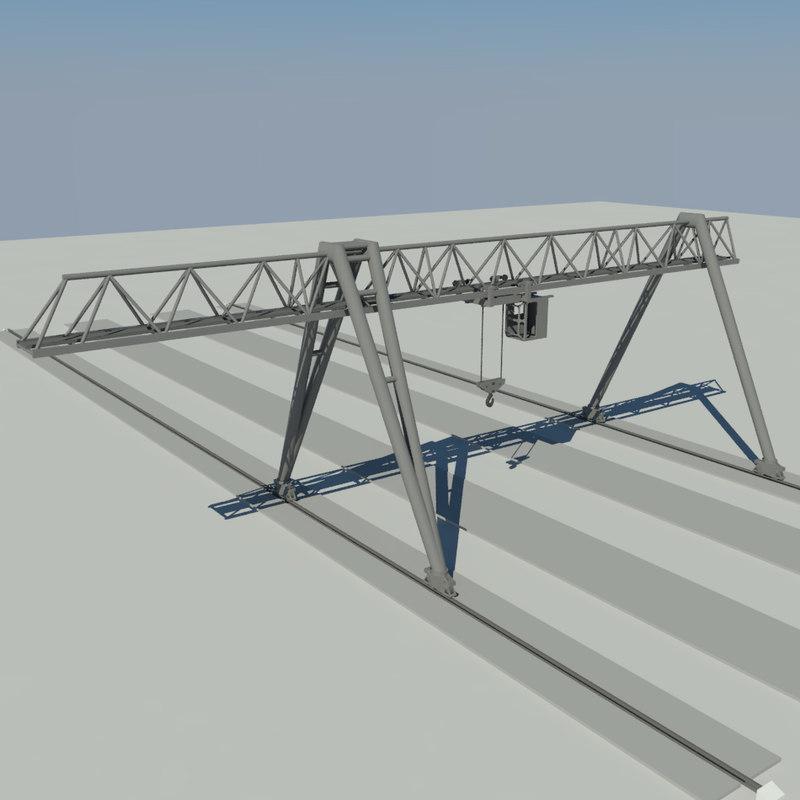 3d model crane gantry