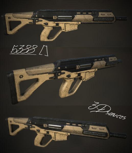 3d future assault rifle