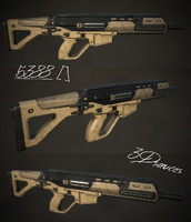 3d future assault rifle