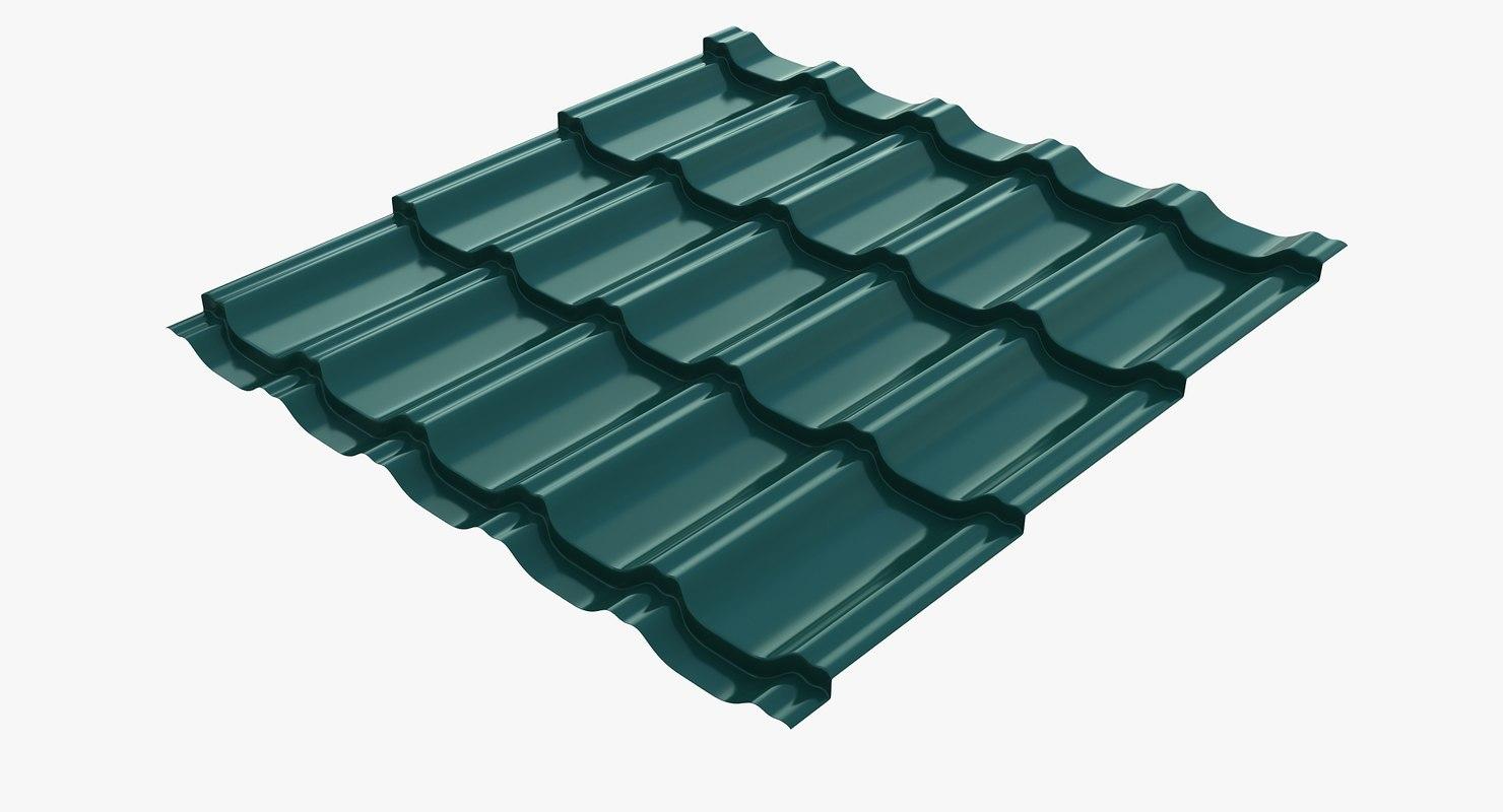 metal roofing barsa 3d model