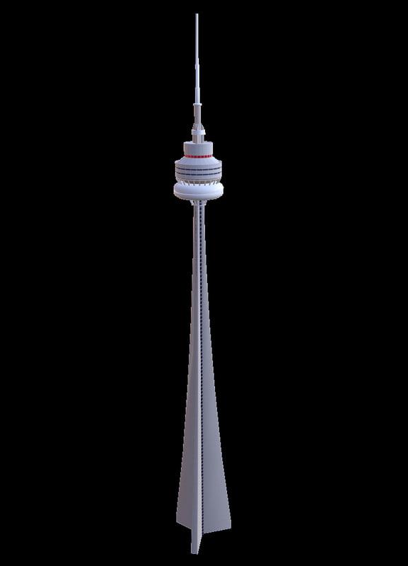 3d cn tower model