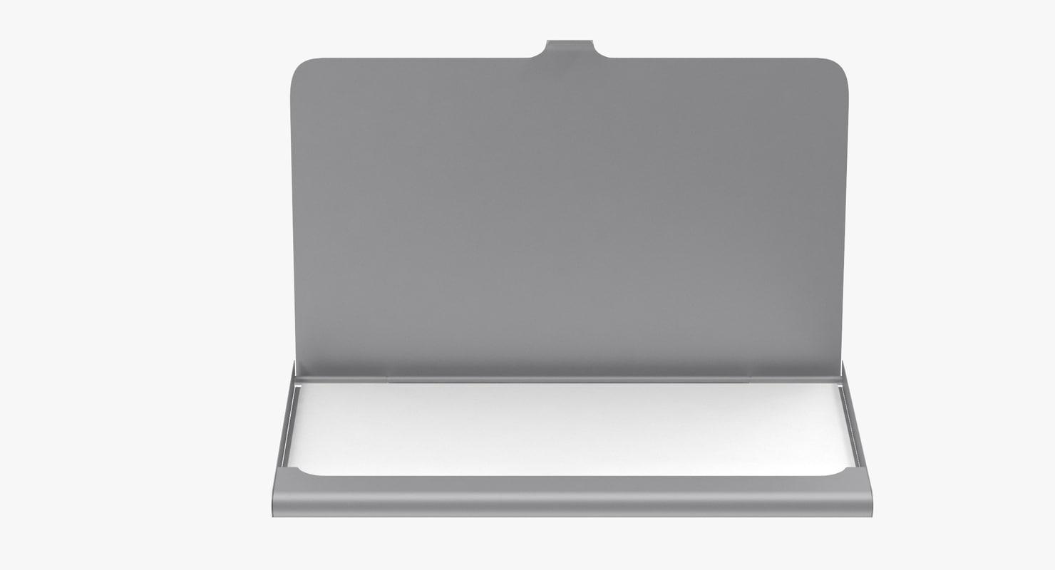 3d model business cards holder