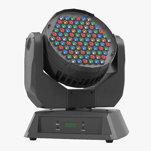3d moving yoke wash led model