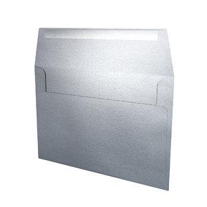 obj envelope -silver metal