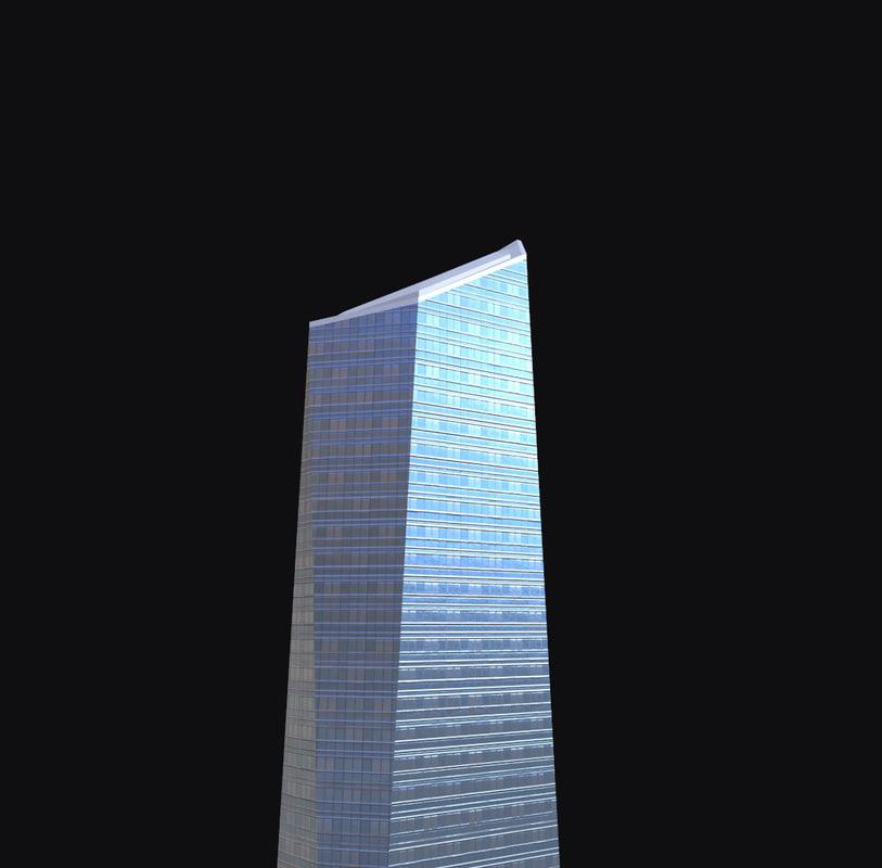 torre di cristallo 3d model