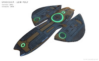 spaceship - 3d model