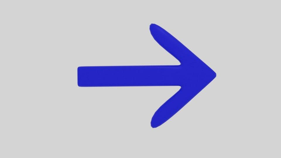 3d arrow symbol
