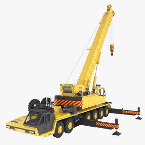3d mobile crane model
