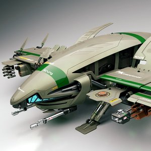 razorbug fighter 3d model