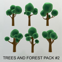 High quality Cartoon Trees and forest pack #2 (AB-pack)