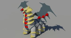 3d giratina pokemon model