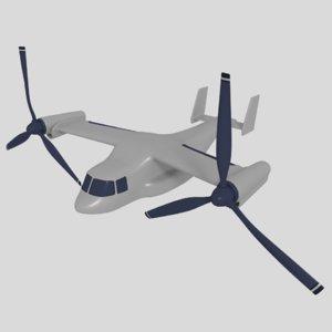 3d osprey vtol model