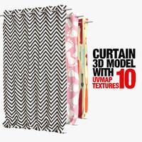curtain 10 3d model
