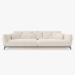 3d model interior fabric sofa