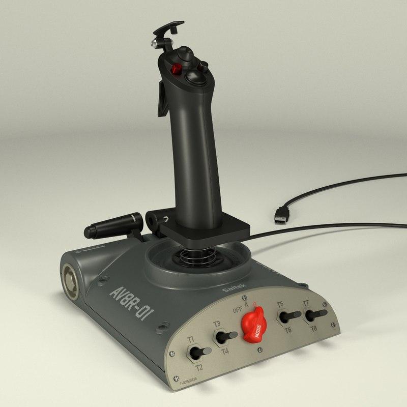 3d saitek joystick model