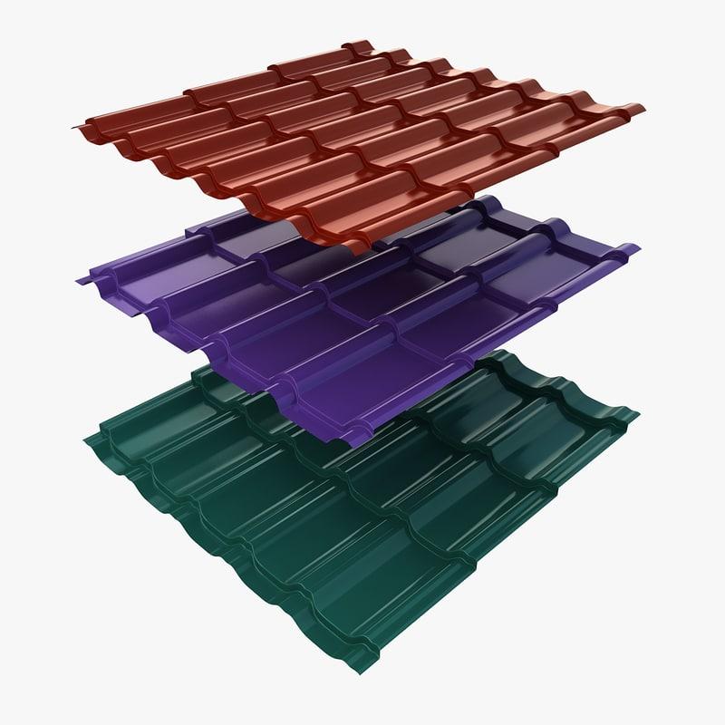 3 metal roofing 3d 3ds