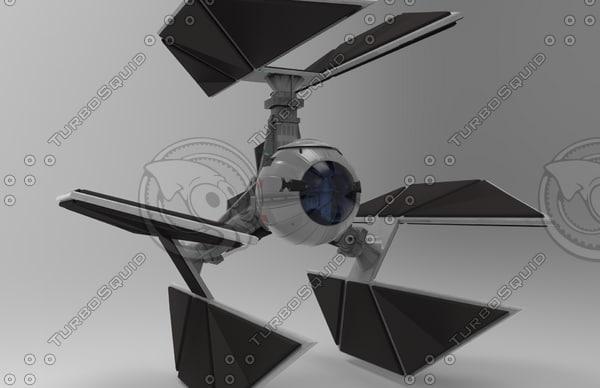 3d star wars tie defender