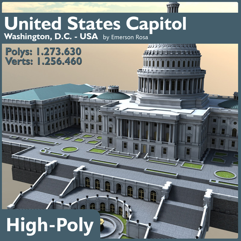 3d model united states capitol