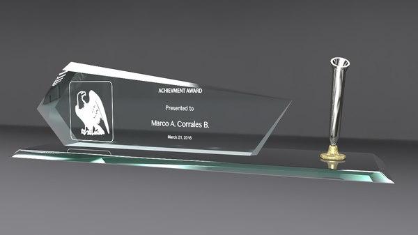 3d badge pen glass